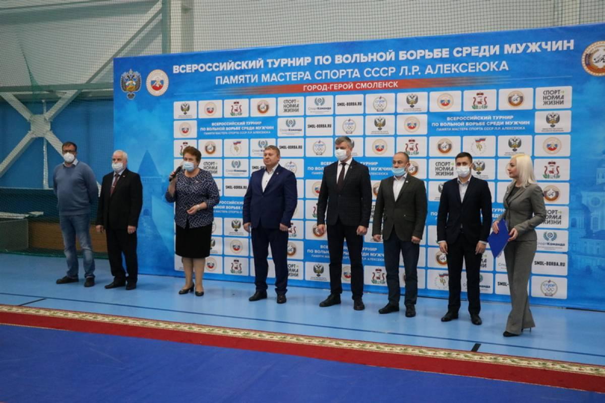 Ольга Окунева посетила Всероссийский турнир по вольной борьбе памяти мастера спорта Леонида Алексеюка