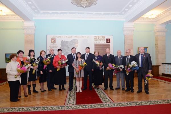 Игорь Ляхов подчеркнул, что все награжденные своим примером воодушевляют всех окружающих, и особенно молодежь, на новые достижения на благо родной Смоленщины.