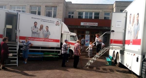 Автопоезд «Здоровье Смоленщины» посетил Руднянский район