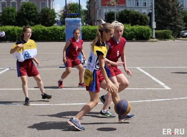 Летние. Спортивные. «Баскетбольный марафон» сделал каникулы школьников еще интереснее